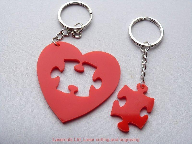 Hart jigsaw keyring