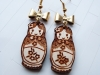 Wood earrings - Babushka doll