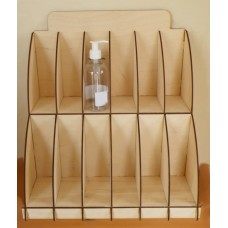 Liquid soap bottle display stand